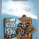 Disneyland runDisney 2015 Inaugural Star Wars Half Marathon Weekend 5K Pin Limited Release C-3PO