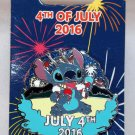 Disney 4th of July 2016 Pin Stitch Limited Edition 3500