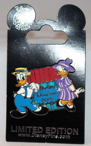 Disney Dapper Day 2016 Pin Donald and Daisy Limited Edition 4000