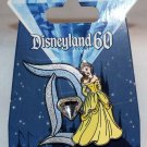 Disneyland 60th Anniversary Diamond D Pin of the Month Belle Limited Edition 3000