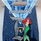 Disneyland 60th Anniversary Diamond D Pin of the Month Ariel Limited Edition 3000