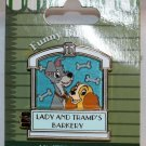 Disneyland Funny Businees Pin Lady and the Tramp Limited Edition 1000