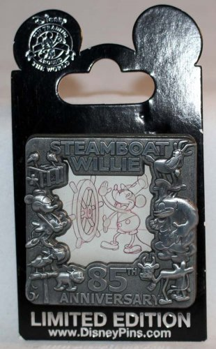 Disney Steamboat Willie 85th Anniversary Pin Limited Edition 2500