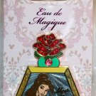 Disney Eau de Magique Perfume Bottle April 2014 Pin of the Month Belle LImited Edition 2000