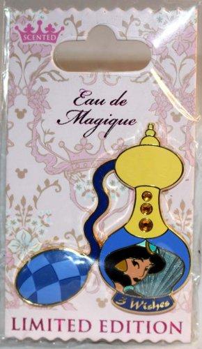 Disney Eau de Magique Perfume Bottle August 2014 Pin of the Month Jasmine LImited Edition 2000