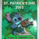 Disney Happy St. Patrick's Day 2013 Pin Stitch Limited Edition 3000