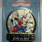 Disney California Adventure Re-Opening I Was There Pin Mickey Donald Goofy Limited Edition 5000