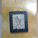Disney D23 Club 2013 Magic Slider Pin with Easel Lady and the Tramp