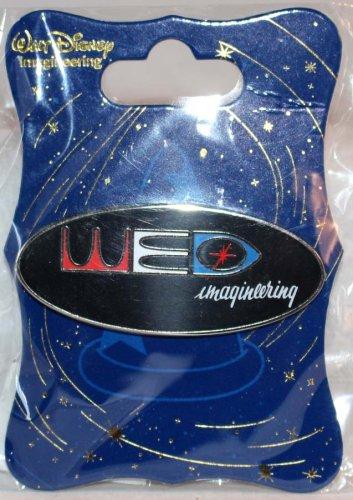 Walt Disney Imagineering WDI Oval WED Logo Pin Color Lettering on Black