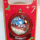 Disneyland Holiday Snow Globe 2007 Pin Cars Lightning McQueen and Sally Limited Edition 1000