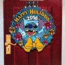 Disneyland Happy Holidays 2016 Paradise Pier Hotel Wreath Pin Stitch Limited Edition 500