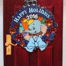 Disneyland Happy Holidays 2016 Disneyland Hotel Wreath Pin Dumbo Limited Edition 1500