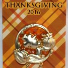 Disney Thanksgiving 2016 Stained Glass Dangle Pin Mickey Mouse Limited Edition 4000