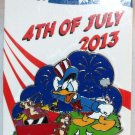 Disney 4th of July 2013 Pin Donald Duck with Chip and Dale Limited Edition 3000