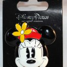 Disney Parks Minnie Mouse Face 3D Ceremic Pin