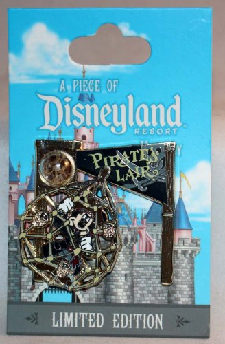 A Piece of Disneyland History Pin with Souvenir Pirate's Lair 2017 Limited Edition 2000