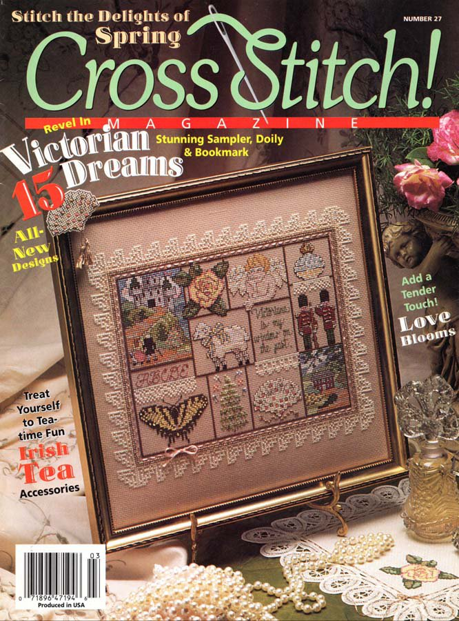 Cross Stitch Magazine Number 27 February-March 1995 Issue 15 Projects