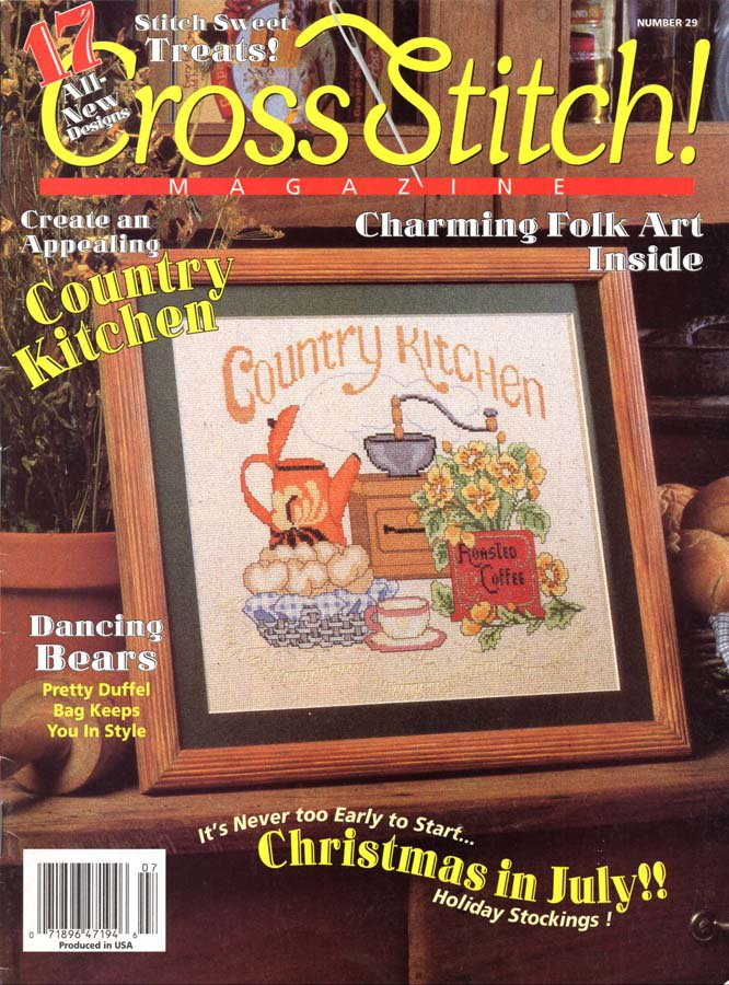 Cross Stitch Magazine Number 29 June-July 1995 Issue 17 Projects