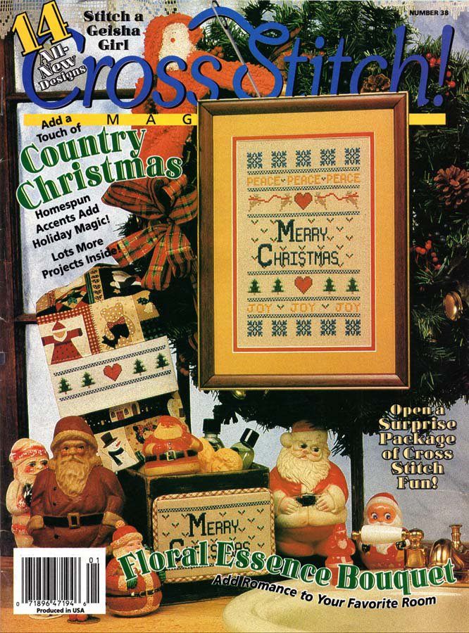 Cross Stitch Magazine Number 38 December 1996-January 1997 Issue 14 Projects