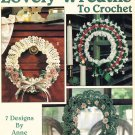 Leisure Arts Lovely Wreaths to Crochet 7 Designs
