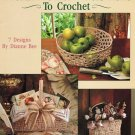 Leisure Arts Traditional Baskets to Crochet 7 Designs in Cotton Thread