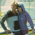 Leisure Arts Sweatshirts to Knit and Crochet 2 Designs in 3 Versions in 12 Sizes