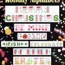 Leisure Arts Holiday Alphabets 7 Complete Alphabets to Cross Stitch