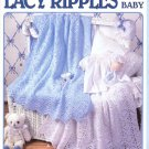 Leisure Arts Lacy Ripples for Baby 6 Afghans to Crochet