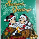Disney Season's Greetings 2016 Pin Mickey and Minnie in Sleigh with Bell Limited Edition 5000