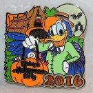 Disneyland Mickey's Halloween Party 2016 Pin Donald at Tiki Room Ltd Edition 1000