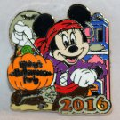 Disneyland Mickey's Halloween Party 2016 Pin Minnie as a Pirate Ltd Edition 1000