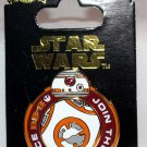 Disney Parks Star Wars The Force Awakens BB-8 Spinner Pin Join the Resistance