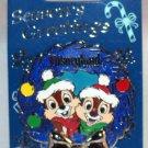Disneyland Season's Greetings 2015 Diamond Celebration Wreath Pin Chip and Dale Limited Edition 2000