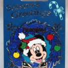 Disneyland Season's Greetings 2015 Diamond Celebration Wreath Pin Mickey Mouse Limited Edition 2000