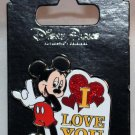Disney Parks Mickey Mouse I Love You Sign Language Pin
