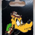 Disney Parks Pluto with Chip and Dale Pin