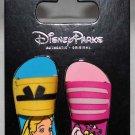 Disney Parks Sandals-Flip Flops 2-Pin Set Alice in Wonderland-Cheshire Cat