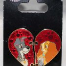 Disney Parks Lady and the Tramp Broken Heart 2-Pin Set