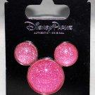 Disney Parks Mickey Icon Pink Glitter Pin