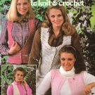 Leisure Arts Vests in Fashion Yarns 8 Designs, 4 to Knit, 4 to Crochet