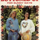 Leisure Arts Buttoned-Up for Sunny Days Book 6 - 6 Designs to Cross Stitch With Button Accents