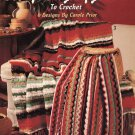 Leisure Arts Scrap Bag Afghans to Crochet 6 Designs in Worsted Weight Yarn