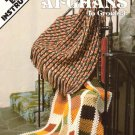 Leisure Arts Reversible Afghans to Crochet 4 Easy Designs in Worsted Weight Yarn