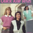 Leisure Arts Quick Knit Vests Book 3 - 6 Designs With Extra Easy Instructions