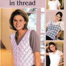 Leisure Arts Pretty Tops in Thread 6 Designs to Crochet