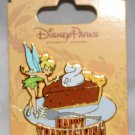 Disney Parks Happy Thanksgiving Pin Tinker Bell and Pumpkin Pie