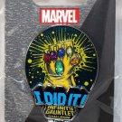 Disneyland runDisney Super Heroes Half Marathon Weekend 2017 Infinity Gauntlet I Did It Pin Limited