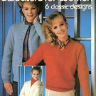 Leisures Arts Knitted Set-In Sleeve Sweaters for Women 6 Designs in 2 Yarn Weights