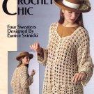 Leisure Arts Crochet Chic 4 Sweater Designs in Sport Weight Yarn