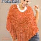 Leisure Arts Trendy Knit Ponchos 4 Designs